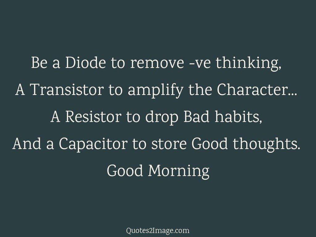 Be a Diode to remove