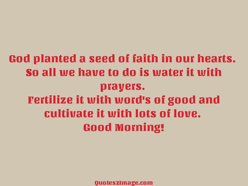 God planted a seed