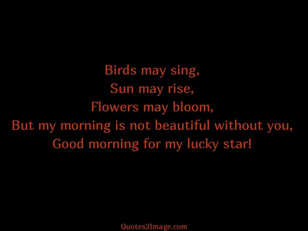 Good morning for my lucky star