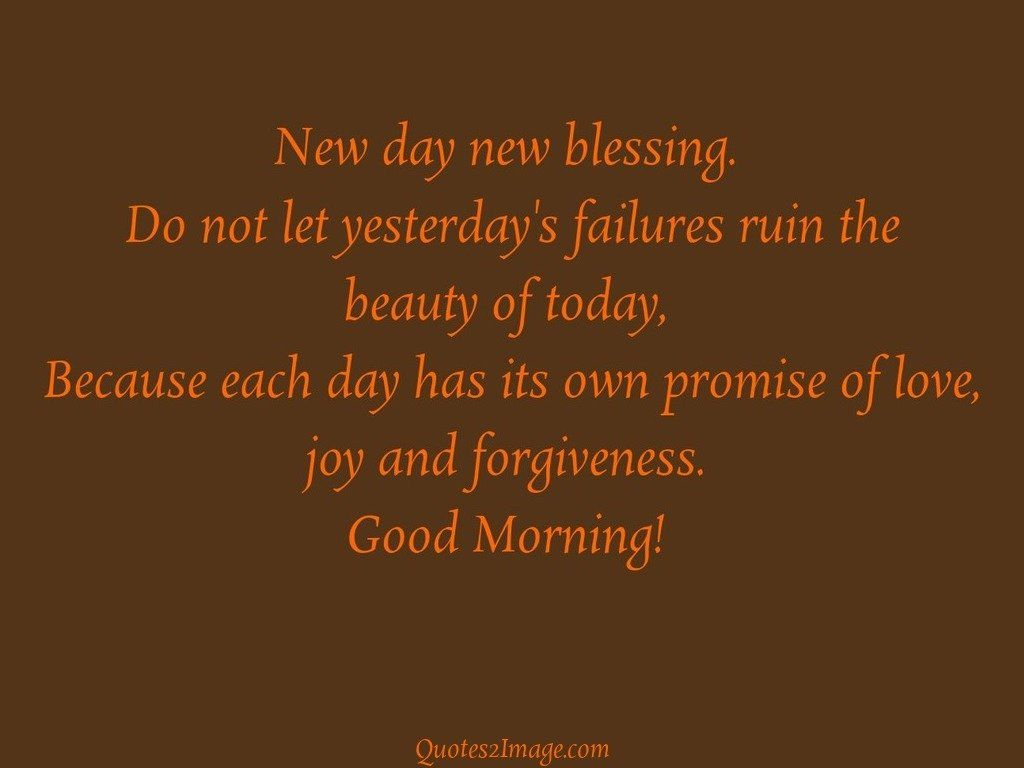 New Day New Blessing Good Morning Quotes 2 Image