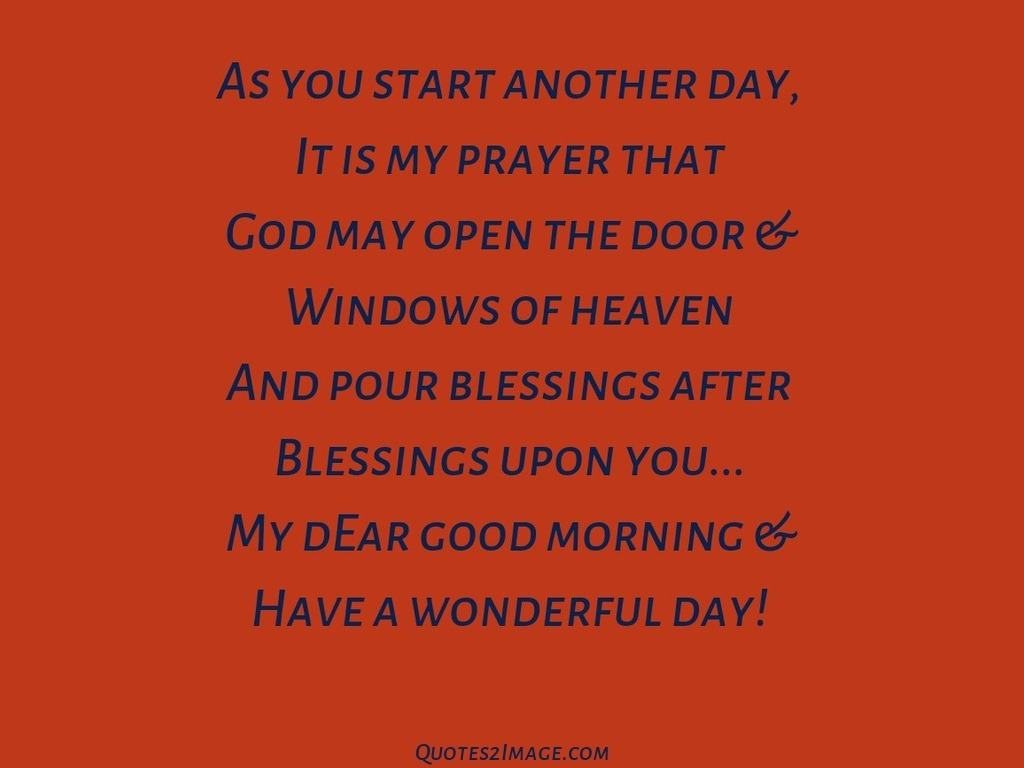 As you start another day
