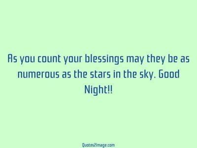 good-night-quote-count-blessings-numerous