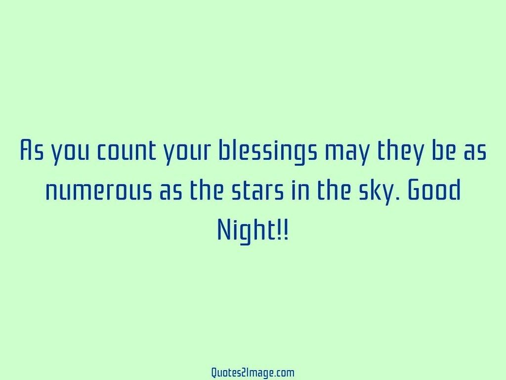 As you count your blessings