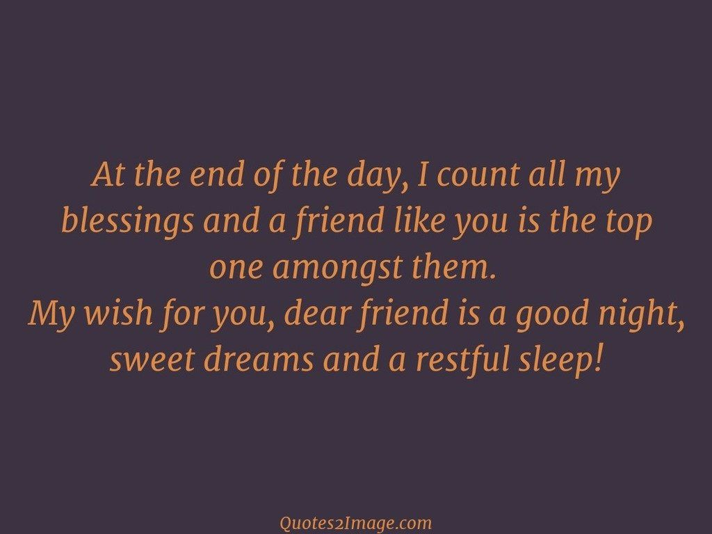Dreams and a restful sleep