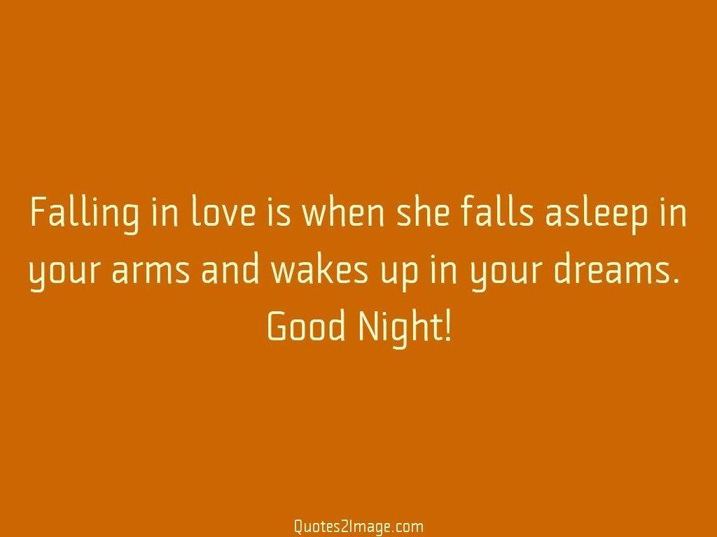 Falling in love is when she falls