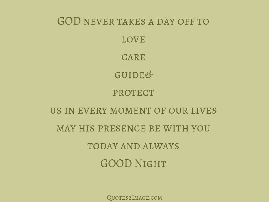 GOD never takes a day
