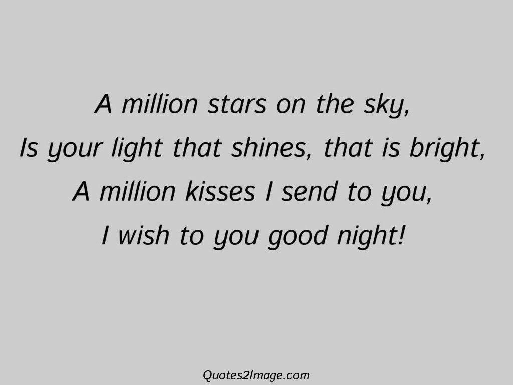 A million stars on the sky