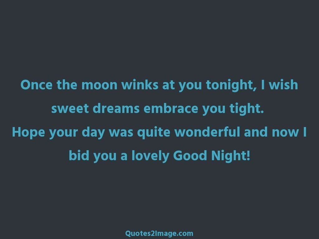 Once the moon winks