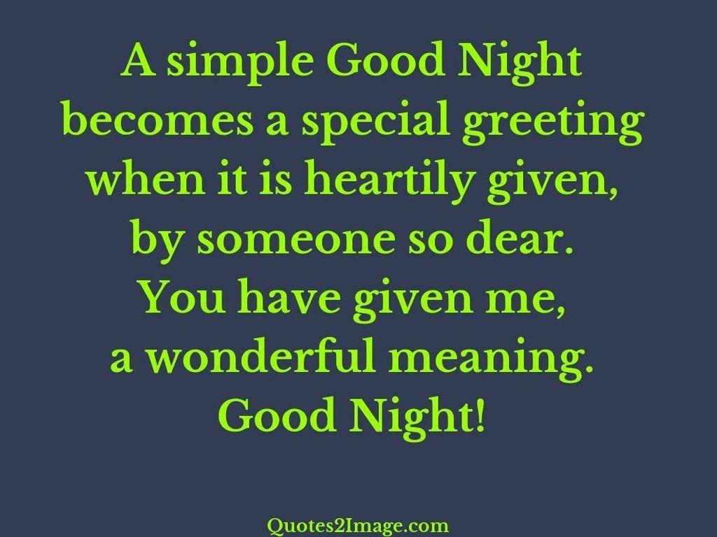 A simple Good Night