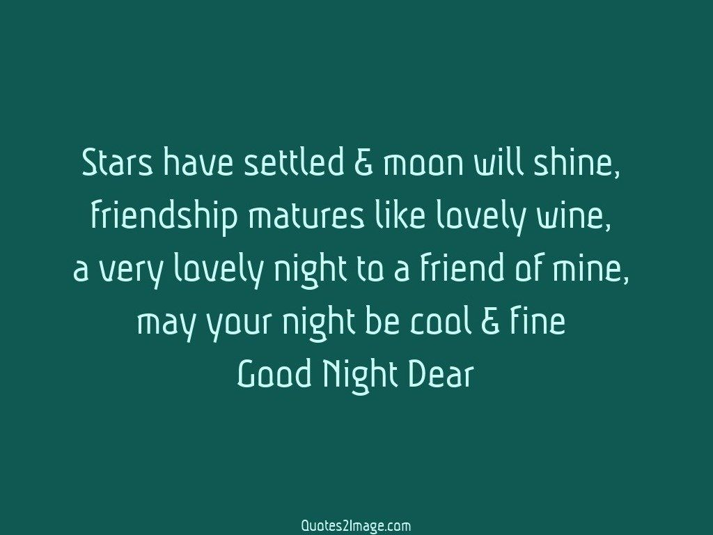 Stars have settled moon - Good Night - Quotes 2 Image