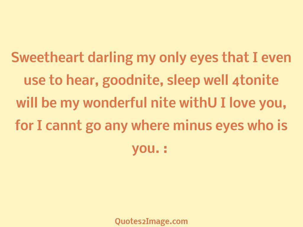 goodnightquotesweetheartdarlingeyes