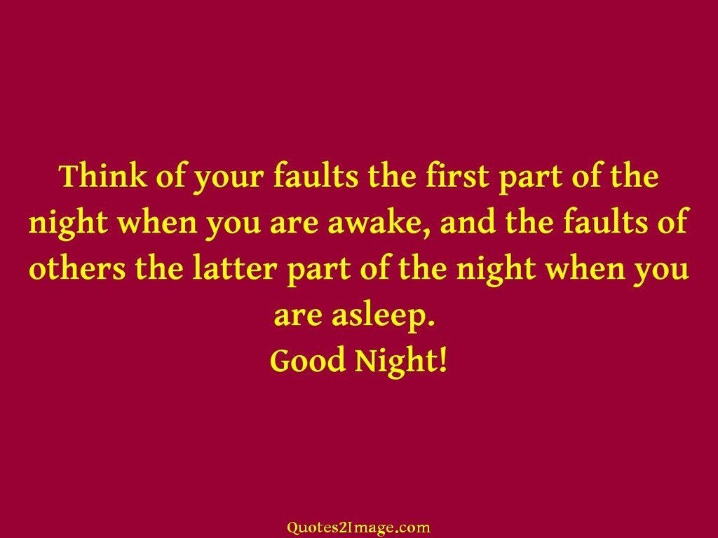 Think of your faults the first