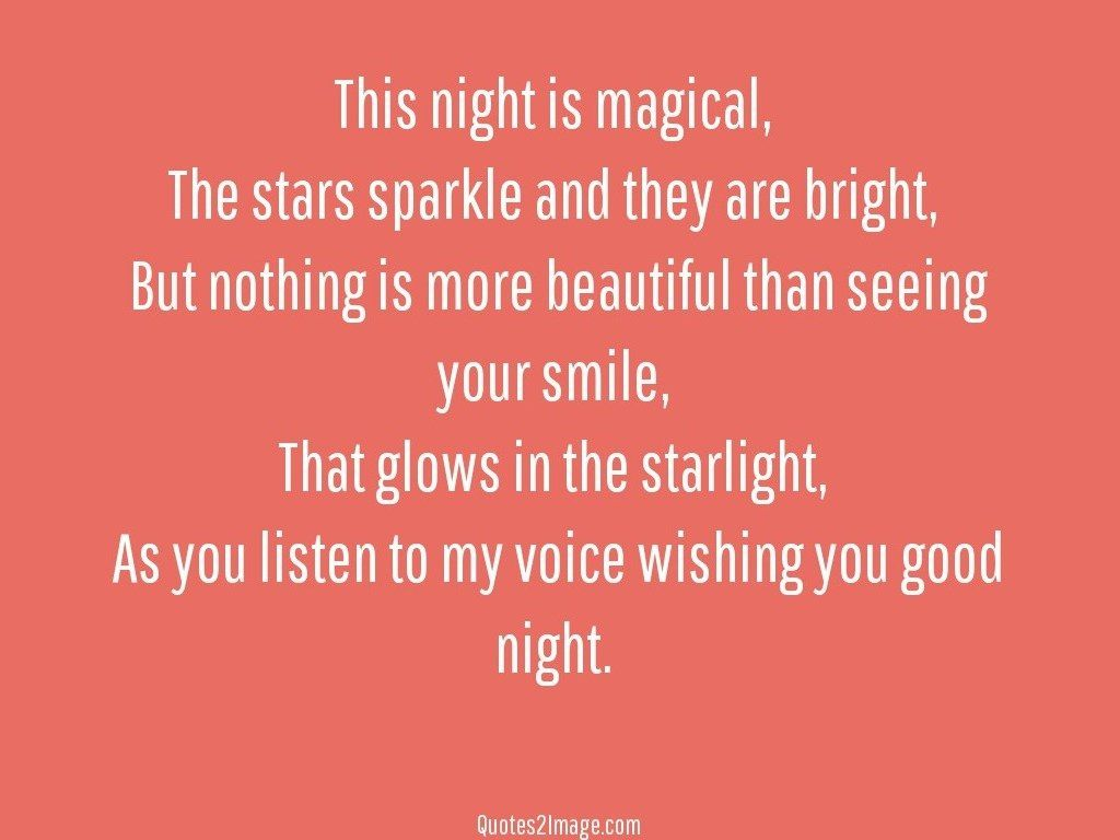 Voice wishing you good night