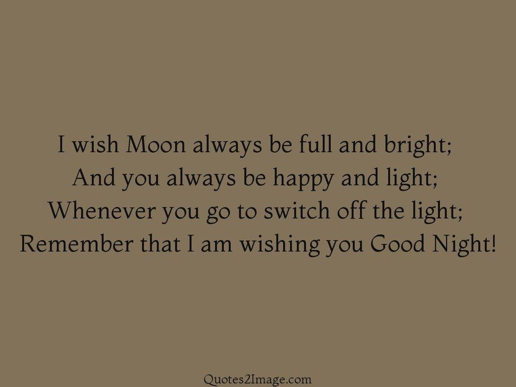 I wish Moon always