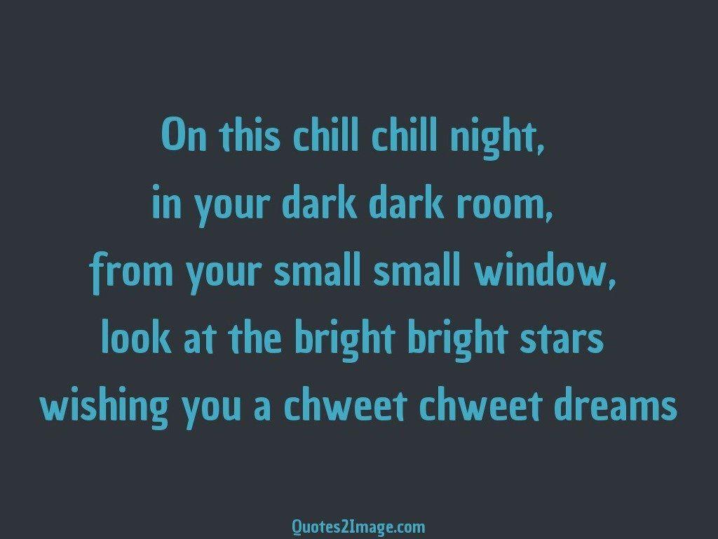 Wishing you a chweet chweet dreams
