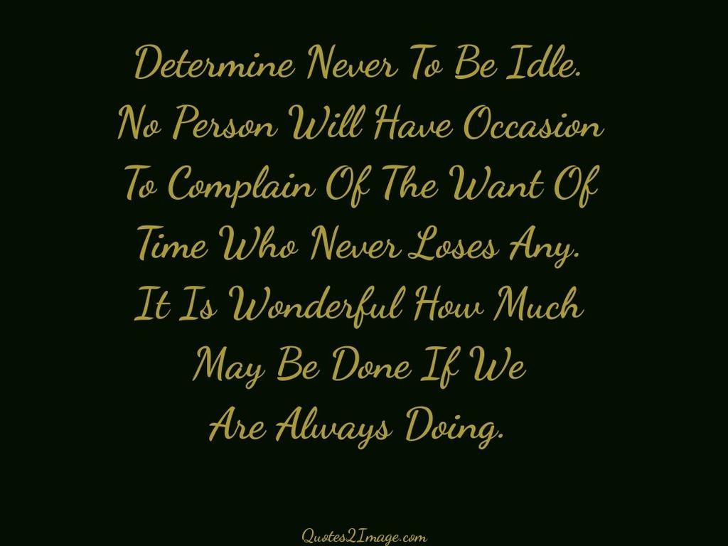 Always Doing