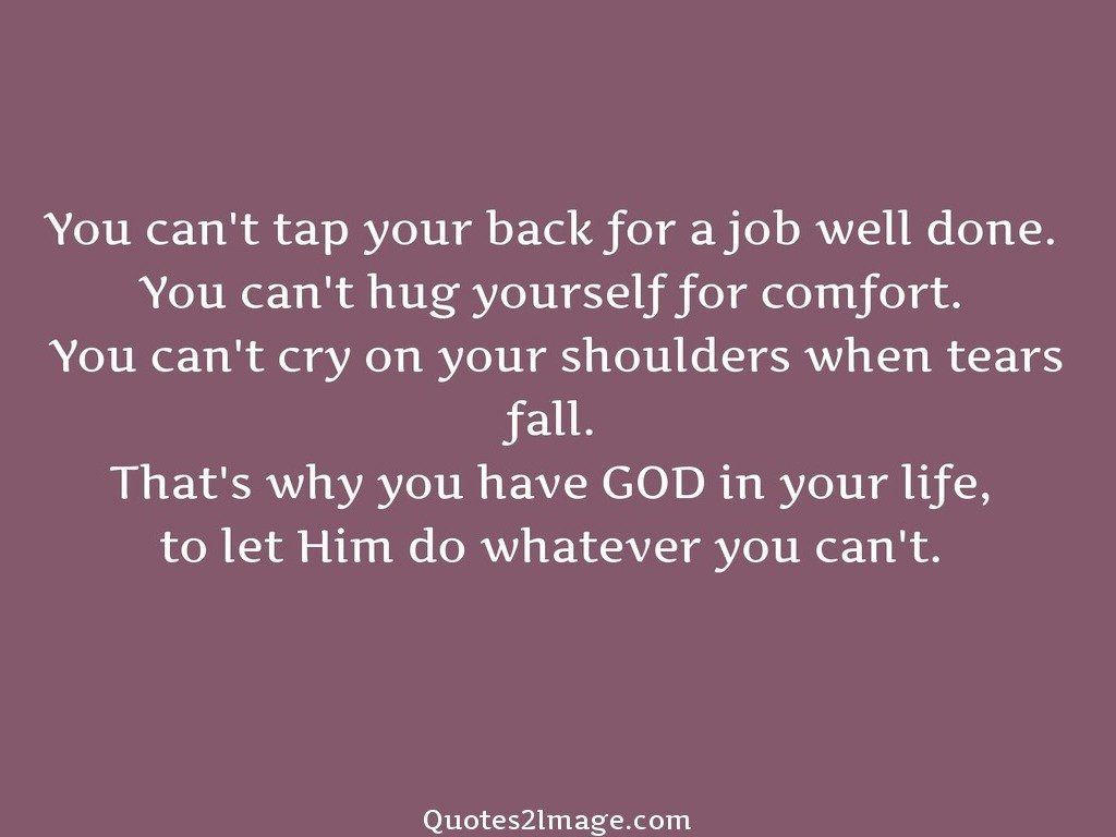 You cant tap your back for a job