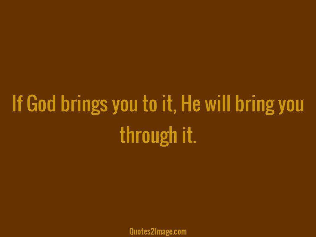 If God bring