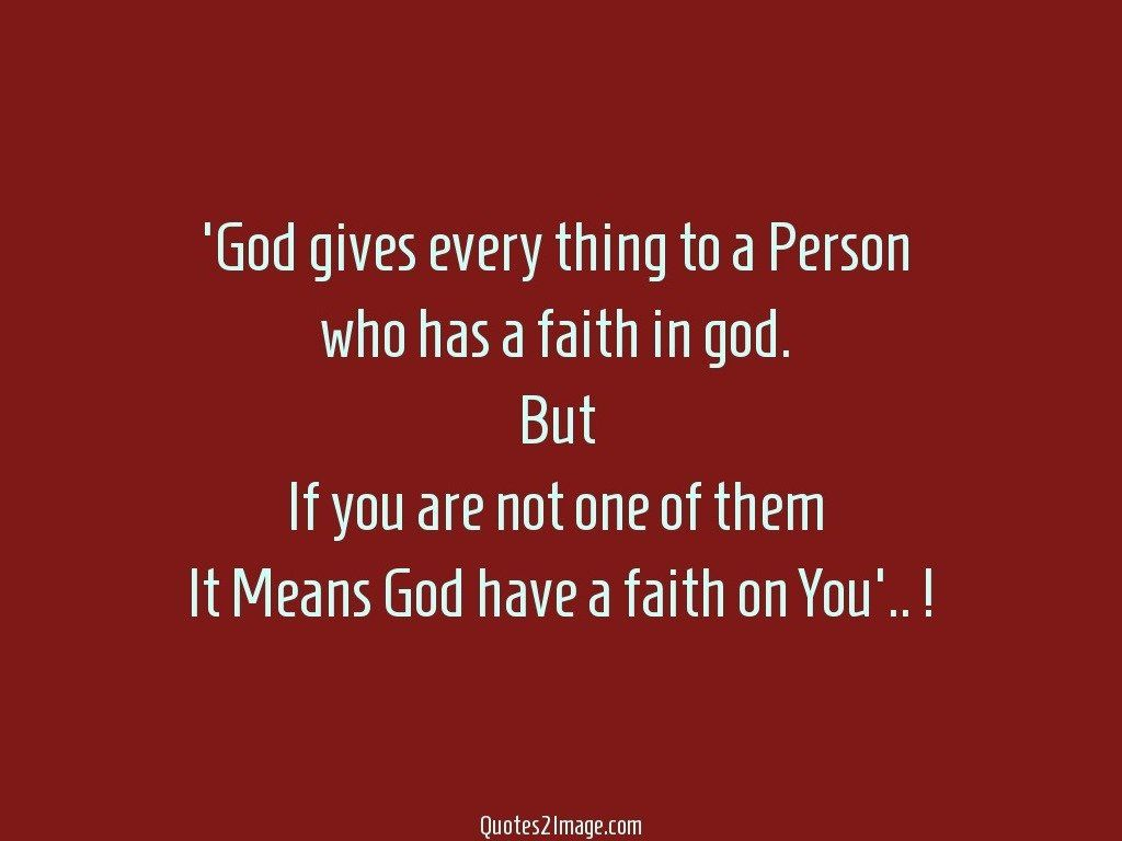 God gives every
