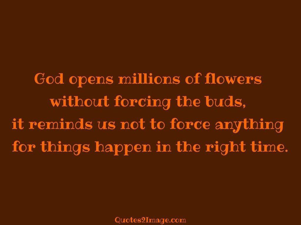 God opens millions