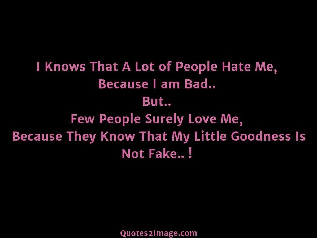 I Knows That A Lot of People
