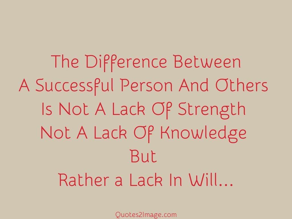 Lack In Will