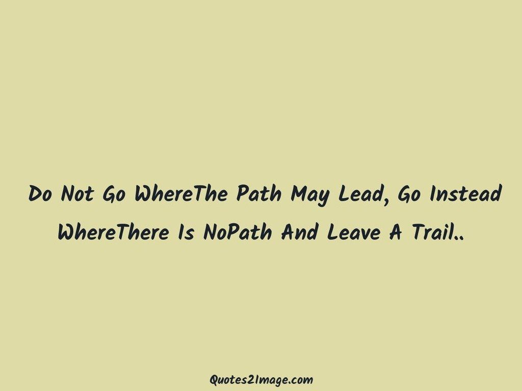 NoPath And Leave A Trail