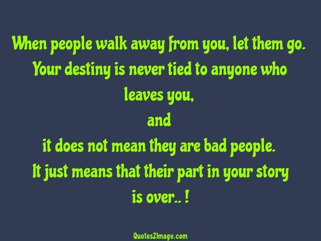 When people walk