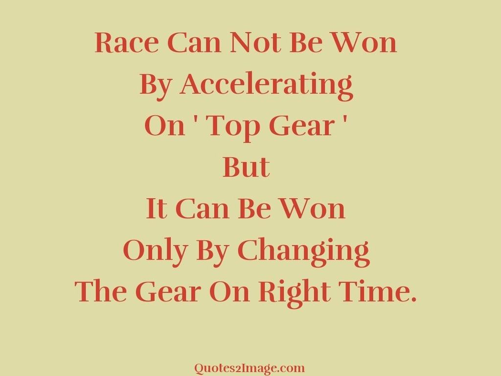Race Can Not Be Won