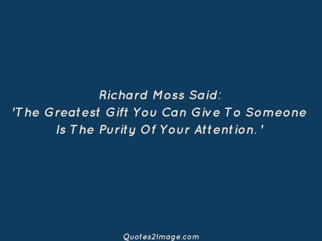 Richard Moss Said