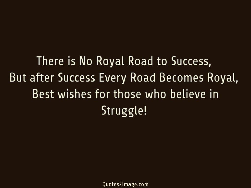 Road To Success Quotes There Is No Royal Road To Success  Inspirational  Quotes 2 Image