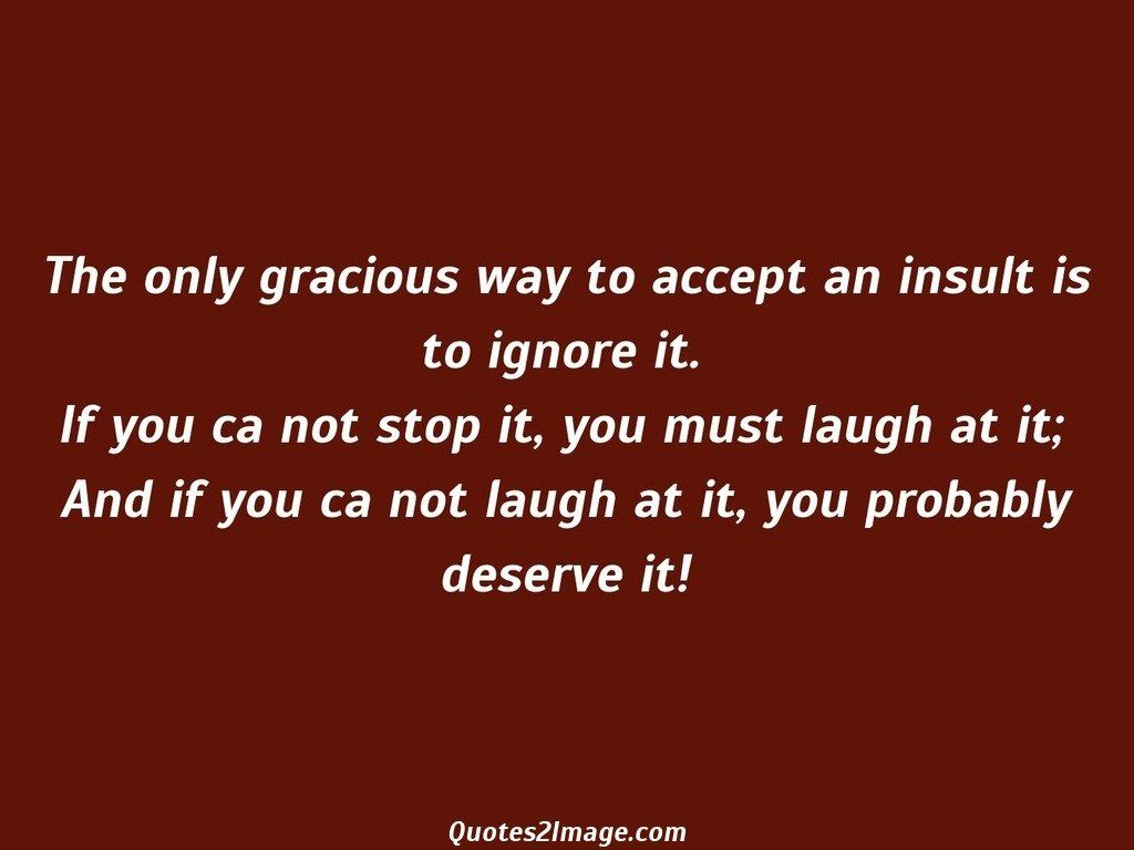 The only gracious way to accept