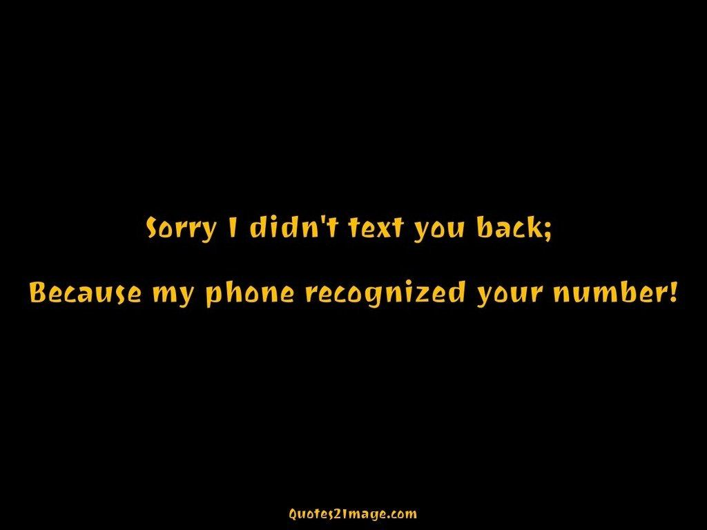 Phone recognized your number