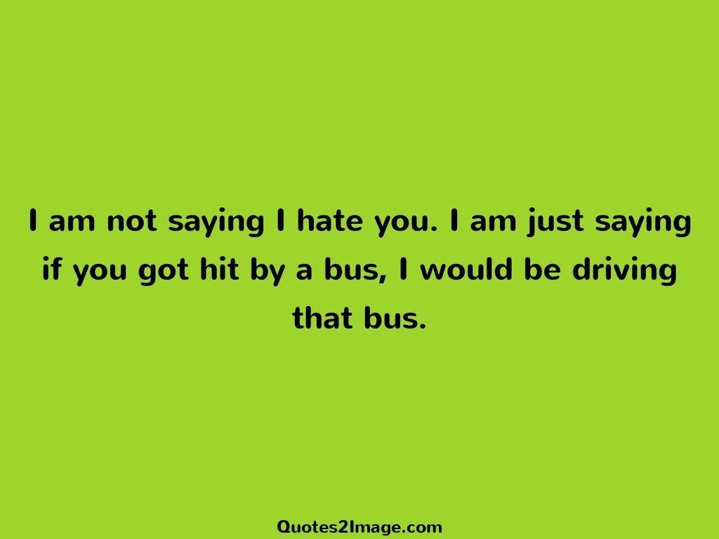 I am not saying I hate