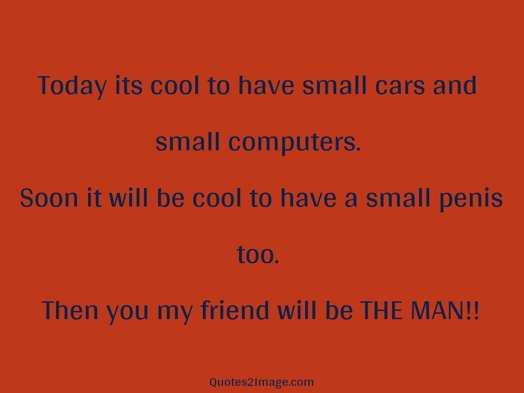 Today its cool to have small