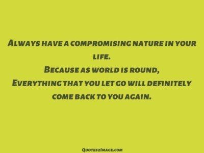 lifequotealwayscompromisingnature