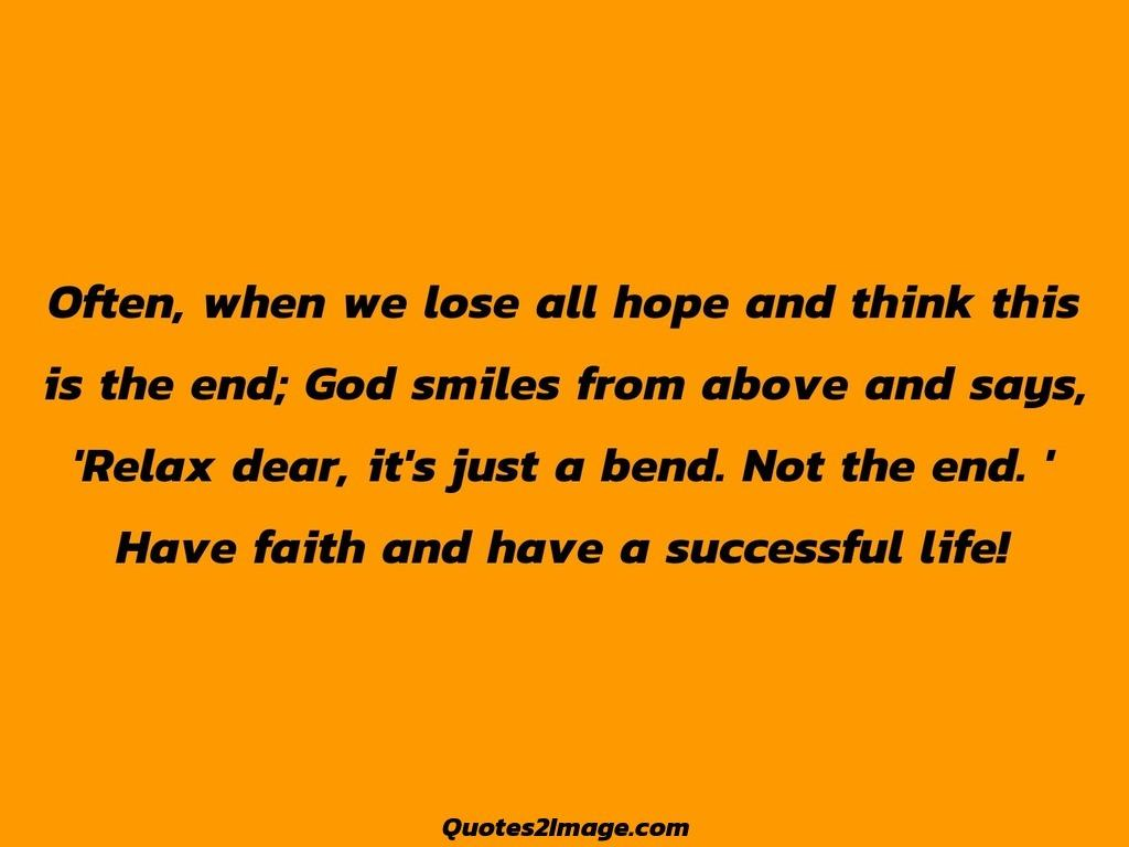 Faith and have a successful life