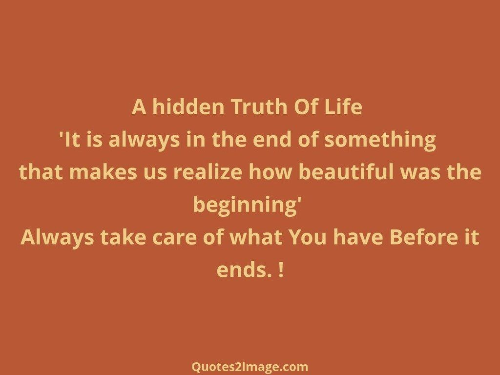 A hidden Truth Of Life
