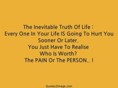 lifequoteinevitabletruthlife