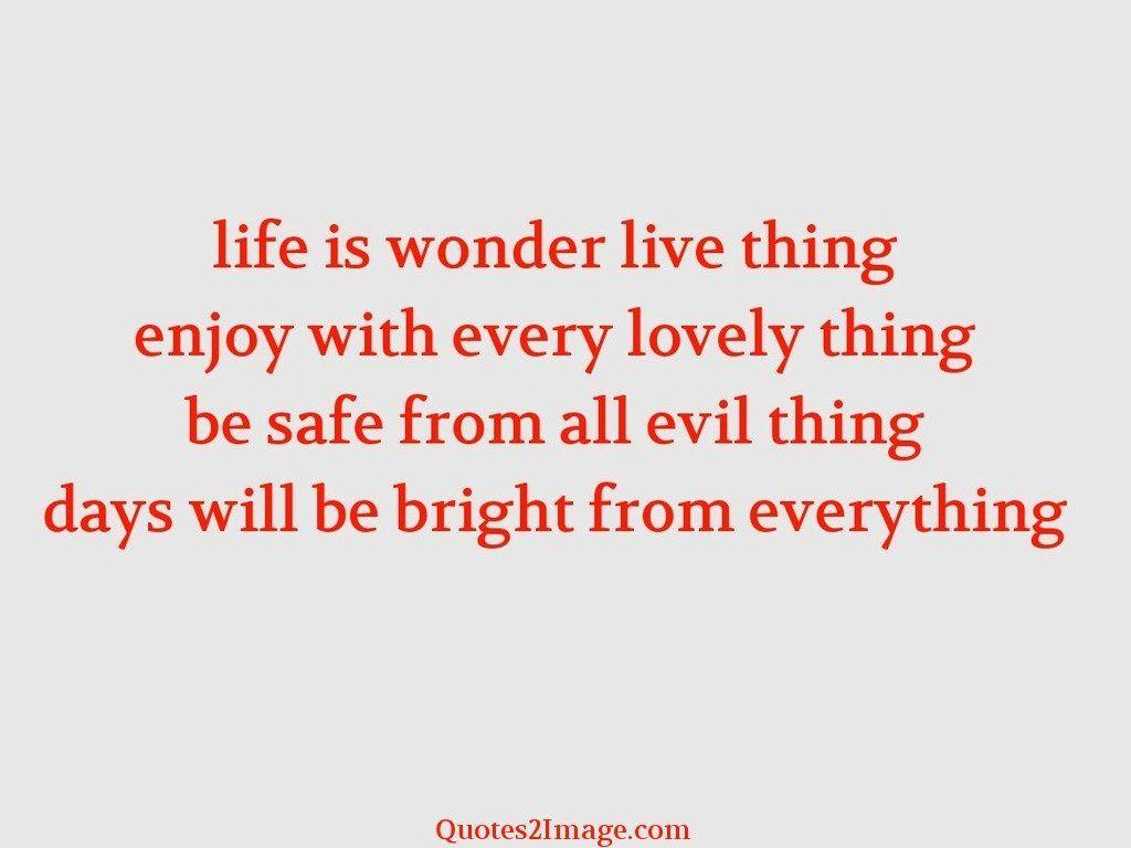 Life is wonder live
