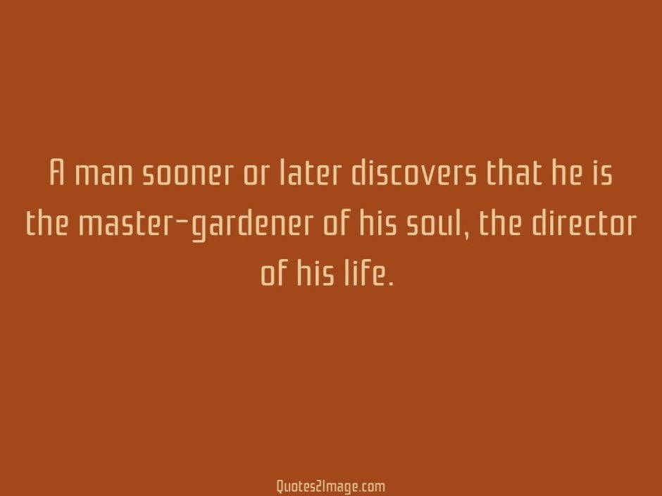 A man sooner or later