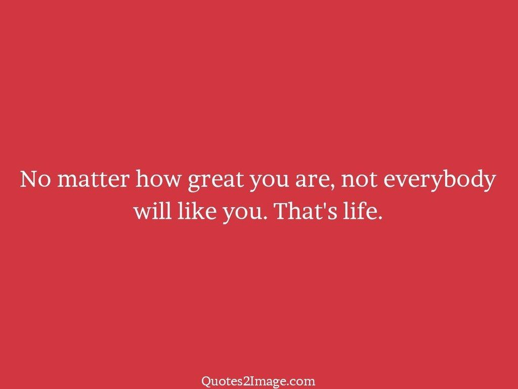 No matter how great