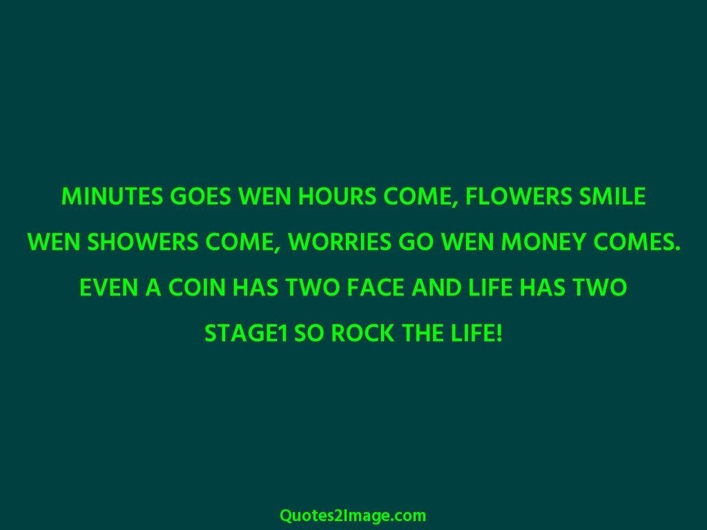MINUTES GOES WEN