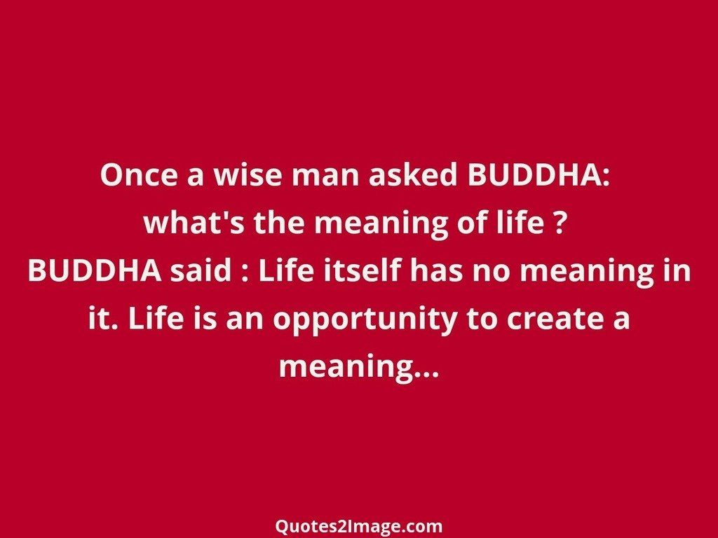Life Quote. Once A Wise Man