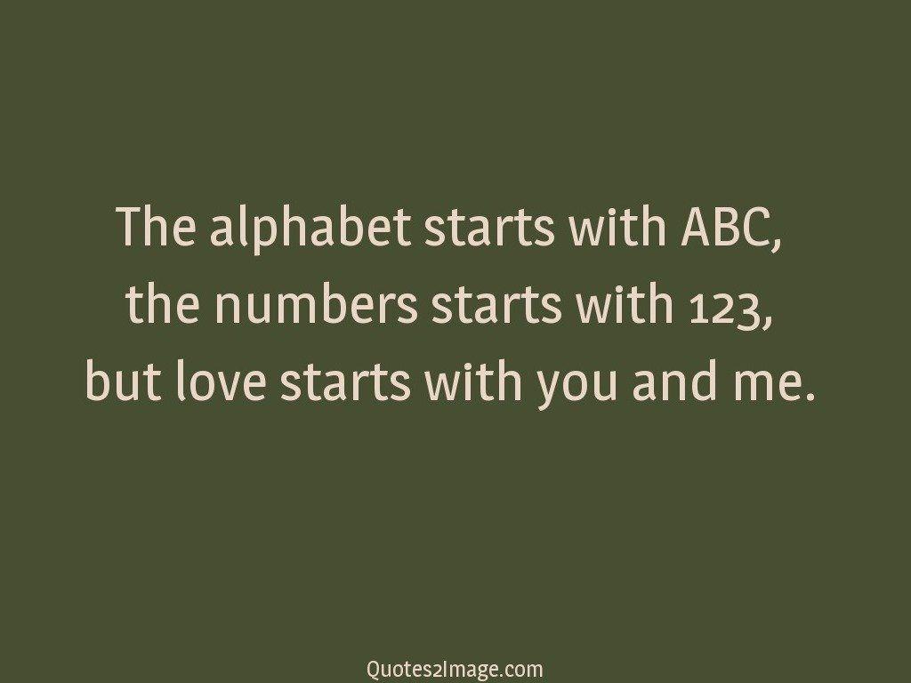 The alphabet starts with ABC