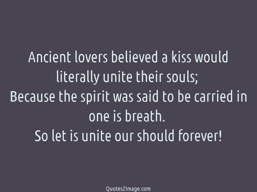 Ancient lovers believed