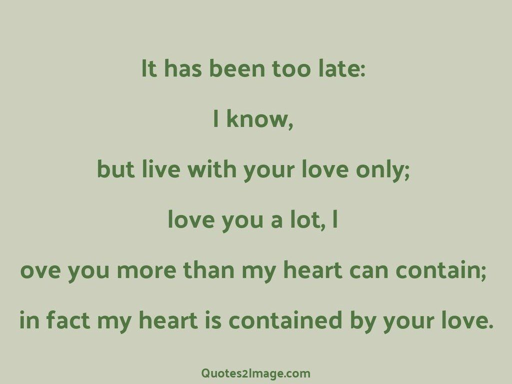 Contained by your love