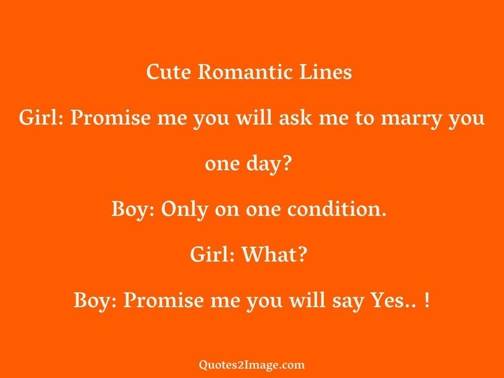 Cute Romantic Lines