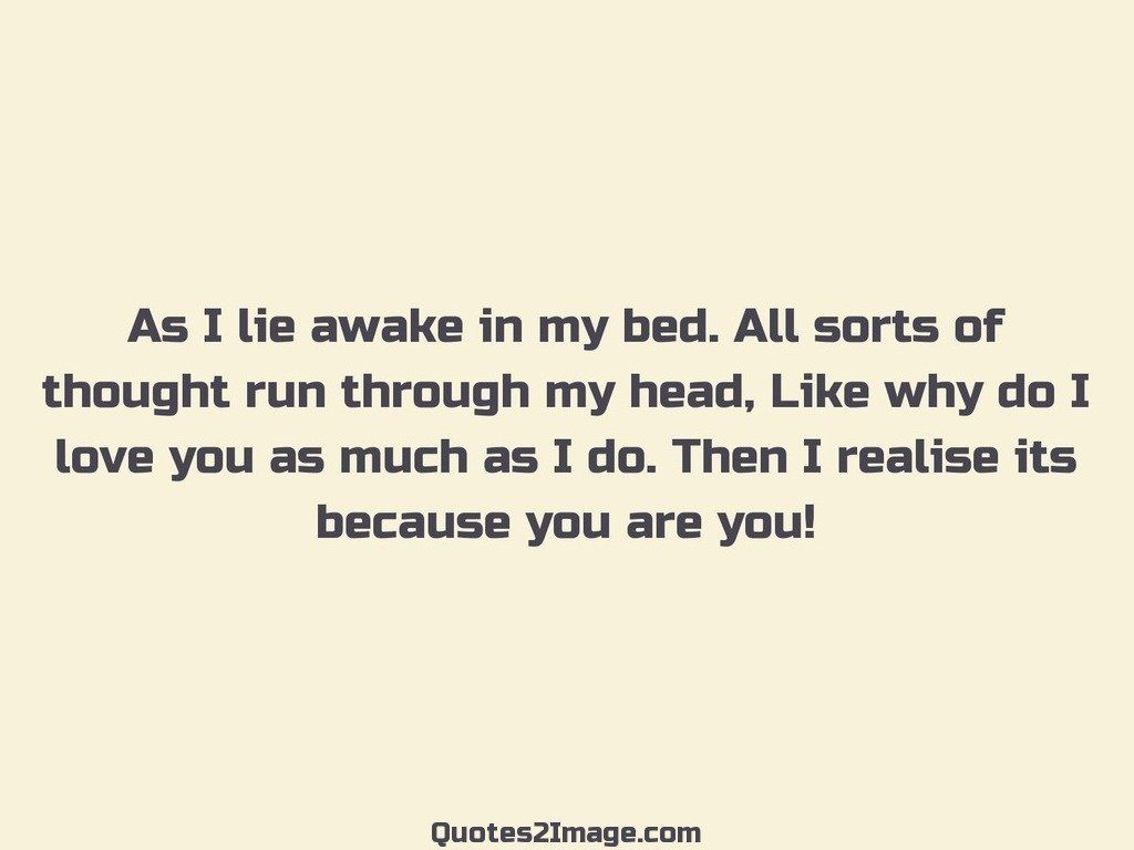 As I lie awake in my bed