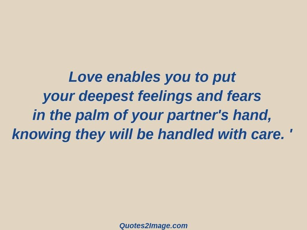 Love enables you to put